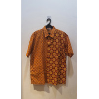 prelove kemeja batik merk keris fashion size L