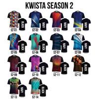 Kaos Badminton Kwista Sablon Nama Kaos Bulutangkis Season S2, S3, S5