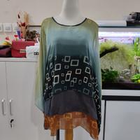atasan blouse wanita model kelelawar warna pelangi preloved murah