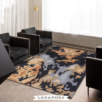 Karpet Handtuft Premium Wool Mewah Modern D065 Blue 200x300 cm