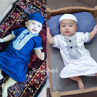Baju Muslim Gamis Koko Jubah Arab Bayi Ozk Baju Bayi Laki-Laki - Navy