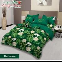 bed cover lady rose sprei karet no2 uk 160x200 motif Monstera