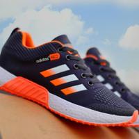 Sepatu Sekolah Sneakers Pria Terbaru 2020 Adidas Zoom Runing Kets Lari - hitam orange, 39