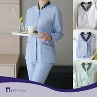Baju Seragam BATIK Mandarin Collar Long Sleeve (Celana Panjang)