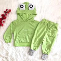 Setelan baju hoodie celana import pergi jalan anak bayi cowok lakilaki