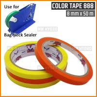 Selotip / Lakban / Isolasi Bag Neck Sealer Alat Ikat Plastik Buah, 8mm