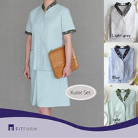 Baju Seragam BATIK Mandarin Collar (Celana Pendek)