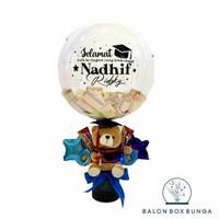 custom balon box + angpao 250 + led
