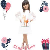 Baju Anak Perempuan Dress Brukat atasan Dres Brokat Putih Pesta Import - Bambi & Bird