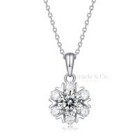 RZP08691Romantic snowflakes Moissanite Diamond Necklace