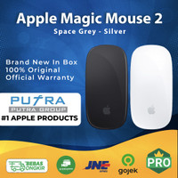(IBOX) Apple Magic Mouse 2 Black Silver Garansi Resmi TAM MRME2 MLA02 - Garansi Inter, Silver MLA02