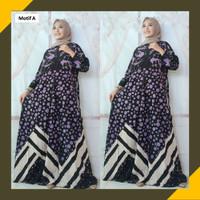 Gamis Batik Wanita Baju Muslim Longdress LD110 Rayon PREMIUM Terbaru