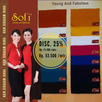 Kain Seragam Sofi seragam wanita bhayangkari Maxistyle per 10 cm