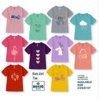 Baju Anak Perempuan 2-12T - Kozzo Kids - Girls Tee Edition - Katun 24s