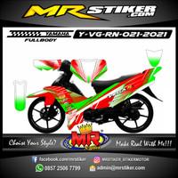 Stiker Decal Motor Yamaha Vega R New Custom Grafis Racing Terbaru