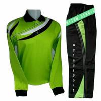 setelan baju training kaos olahraga pria dan wanita lengan panjang