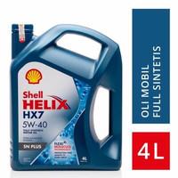 Oli Mesin Mobil Shell Helix HX7 5W-40 SN Plus 4 Liter Original