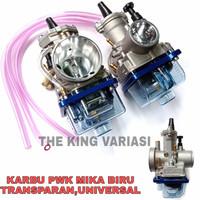 karbu pwk 28 sudco keihin/karburator pwk 28 mika biru transparan