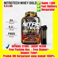 Nitrotech Whey Gold Muscletech BPOM 2.51kg whey Isolates