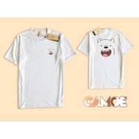 Kaos Baju premium muka grizzly face bare bears beruang senyum full