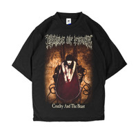 KAOS BAND BLACK METAL CRADLE OF FILTH CRUELTY AND THE BEAST T-SHIRT - Hitam, S