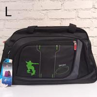 Tas travel tas pakaian besar kanvas tebal POLO TOUCH 2291-2085 - Hitam, L