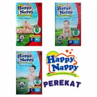 Happy Nappy S40/ M40/ L40 Baby Diaper Tape Perekat