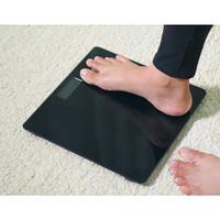 Timbangan Badan Digital Kaca Black Hitam Scale Electronik Body Fitness