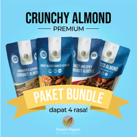 Crunchy Almond / Roasted Almond 4pcs Bundle - By Francis Organic