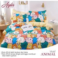 Bedcover Sprei Katun AYLA Motif ANIMAL Ukuran 140x200-200x200cm