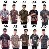 Kemeja Batik Pria Lengan Pendek // Baju Kerja Kantor // Batik Modern