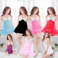 Lingerie Sexy Dress Baju Tidur Lace Babydoll Murah Big size (Set) 5480