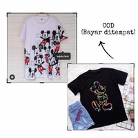 Tshirt Oversize Mickey Mouse   Baju Katun wanita  Atasan Jumbo Kaos
