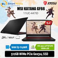 MSI Katana GF66 11UC-447ID|i5-11400H|8GB|512GB RTX3050 4GB|144Hz|Win10