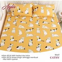 Bedcover Sprei Katun AYLA Motif CATHY Ukuran 140x200-200x200cm