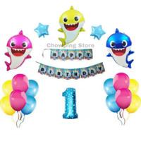 Paket Dekorasi Hiasan Balon Ulang Tahun / Happy Birthday Baby Shark 02
