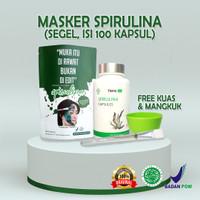 Masker Spirulina Kapsul Tiens Tianshi Asli Original Segel 100 Kapsul