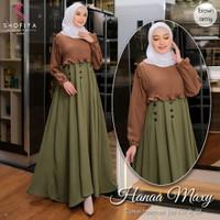 Baju Gamis Wanita Muslim Syari Terbaru Hanaa Maxy Dress Gamis Murah