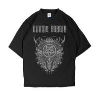 KAOS BAND BLACK METAL DIMMU BORGIR BLACK TSHIRT / BAJU METAL MURAH