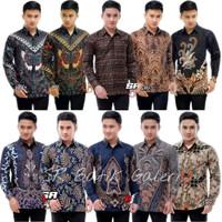 Baju batik pria lengan panjang masa kini motif modern harga grosir