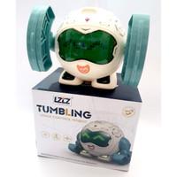 Mainan Tumbling Voice Control Robot Suara Musik dan LED Light