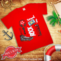 Kaos Anak Baju Cowok Laki - Laki Musical Bahan Katun Combed - 1-2 tahun