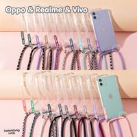 For Oppo, Realme & Vivo - Anti Crack Lanyard Case/ Sling Case Tali - COABL-001, Oppo A3S RealC1