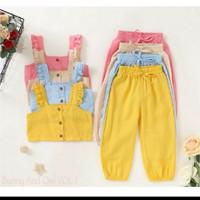 baju anak perempuan import murah crop top