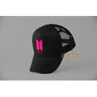 Topi Jaring BTS/Topi Anak BTS/Snapback BTS/Korea/KPOP/Army/Premium/HQ - Black