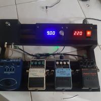 Custom pedal board power supply thru by pass efek gitar bass