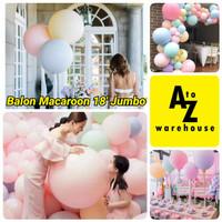 Balon Latex Macaron Jumbo 18 Inch Balon Pastel Doff Jumbo Dekorasi
