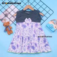 Dress Aila uk 1-4 Tahun / Dres Yukensi Motif Baju Anak Perempuan