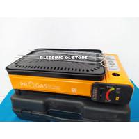 Kompor Gas Portable BBQ 2 in 1 Progas /Kompor Panggang Portable PROGAS