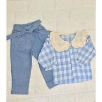 Setelan Baju Celana Panjang Anak Perempuan Import 1-5 Tahun